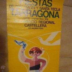 Carteles Feria: POSTER TARRAGONA.-FIESTAS S.MAGIN Y STA.TECLA 1974.-III EXHIBICION CASTELLERA--BB. Lote 51929553