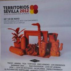 Carteles Feria: TERRITORIOS SEVILLA 2012 CARTEL 100X140CM. APROX.. Lote 48720106