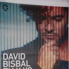 Carteles Feria: DAVID BISBAL - TU Y YO CARTEL 100X140CM. APROX.. Lote 48720332