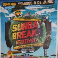 Carteles Feria: SUNDAY BREAKS FESTIVAL - CADIZ 2.014 CARTEL 100X140CM. APROX.. Lote 48720788