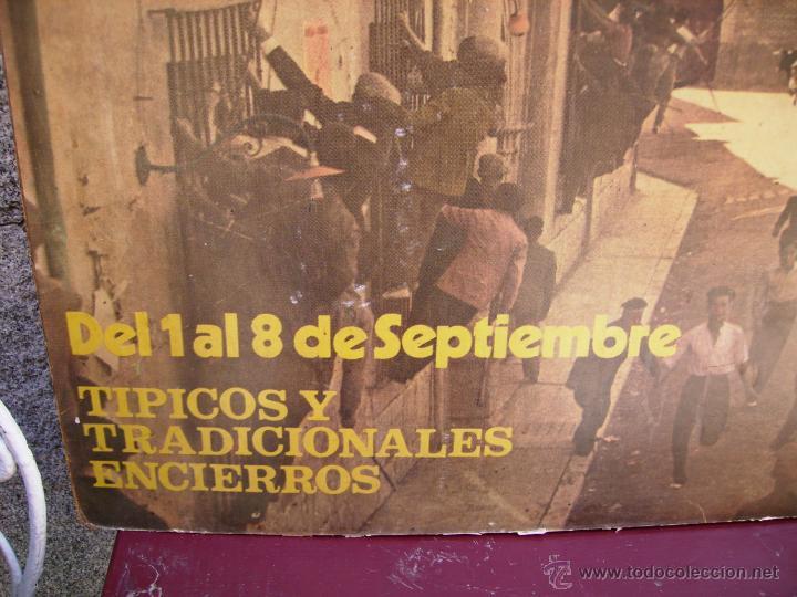 Carteles Feria: Cartel de las fiestas y encierros de San Antolin, de Medina del Campo, de 1971. - Foto 3 - 48735474