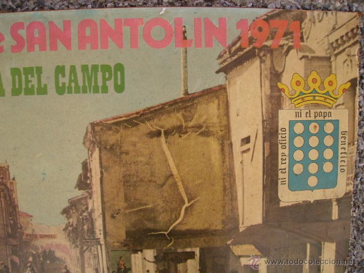Carteles Feria: Cartel de las fiestas y encierros de San Antolin, de Medina del Campo, de 1971. - Foto 4 - 48735474