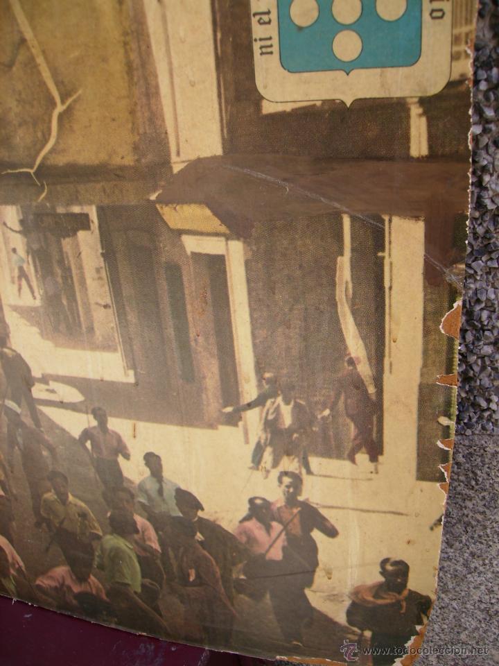 Carteles Feria: Cartel de las fiestas y encierros de San Antolin, de Medina del Campo, de 1971. - Foto 5 - 48735474