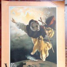 Carteles Feria: CARTEL PUBLICIDAD V CENTENARIO CANONIZACION DE SAN VICENTE FERRER VALENCIA 1955 JOSE SEGRELLES (3). Lote 48751152