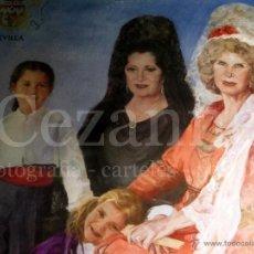 Carteles Feria: CARTEL FIESTAS DE PRIMAVERA. SEVILLA 2010. DUQUESA DE ALBA Y JUANA REINA. 94 X 68 CM.. Lote 48842472