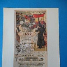 Carteles Feria: LÁMINA DE ANTIGUO CARTEL ANUNCIADOR DE LAS FIESTAS DE PRIMAVERA. SEVILLA 1890. Lote 48894615