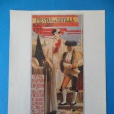 Carteles Feria: LÁMINA DE ANTIGUO CARTEL ANUNCIADOR DE LAS FIESTAS DE PRIMAVERA. SEVILLA 1907. Lote 48901772