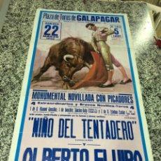 Carteles Feria: PLAZA DE TOROS DE GALAPAGAR (MADRID) - MONUMENTAL NOVILLADA CON PICADORES - DOMINGO 22 MARZO 1992 . . Lote 49014966