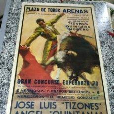 Carteles Feria: PLAZA DE TOROS ARENAS DE BARCELONA - GRAN CONCURSO ESPERANZA 70 - DOMINGO, 1 DE NOVIEMBRE DE 1970 . . Lote 49030508
