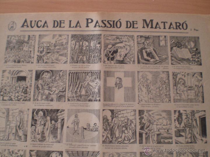 AUCA DE LA PASSIÓ DE MATARÓ. SALA CABANYES. IMPRENTA PORCAR. PUBLICIDAD MORFEO. MARESME. 1935 (Coleccionismo - Carteles Gran Formato - Carteles Ferias, Fiestas y Festejos)