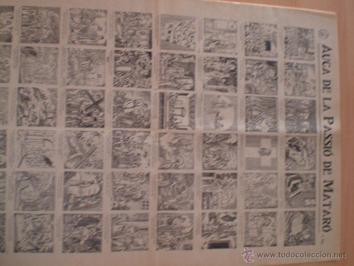 Carteles Feria: AUCA DE LA PASSIÓ DE MATARÓ. SALA CABANYES. IMPRENTA PORCAR. PUBLICIDAD MORFEO. MARESME. 1935 - Foto 3 - 69888307