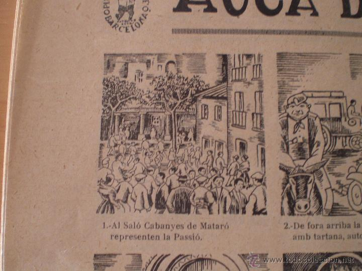 Carteles Feria: AUCA DE LA PASSIÓ DE MATARÓ. SALA CABANYES. IMPRENTA PORCAR. PUBLICIDAD MORFEO. MARESME. 1935 - Foto 6 - 69888307