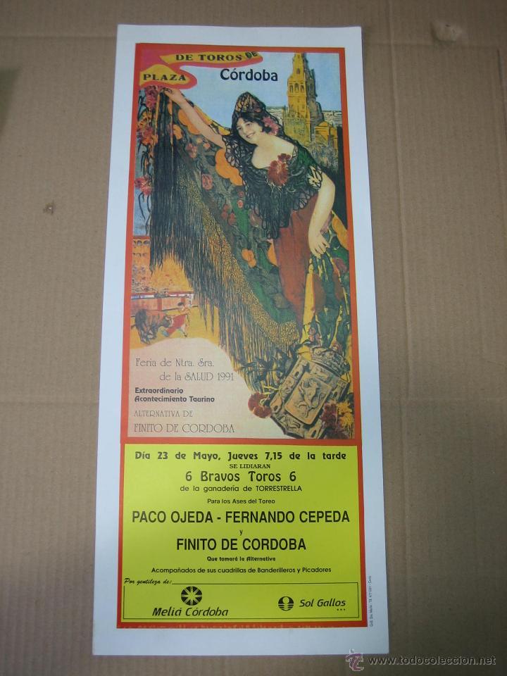 CARTEL PLAZA DE TOROS DE CORDOBA 1991. MEDIDAS 20X49 CM (Coleccionismo - Carteles Gran Formato - Carteles Ferias, Fiestas y Festejos)