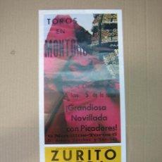 Carteles Feria: CARTEL PLAZA DE TOROS DE MONTORO 1986. MEDIDAS 17X39,50 CM. Lote 49258375