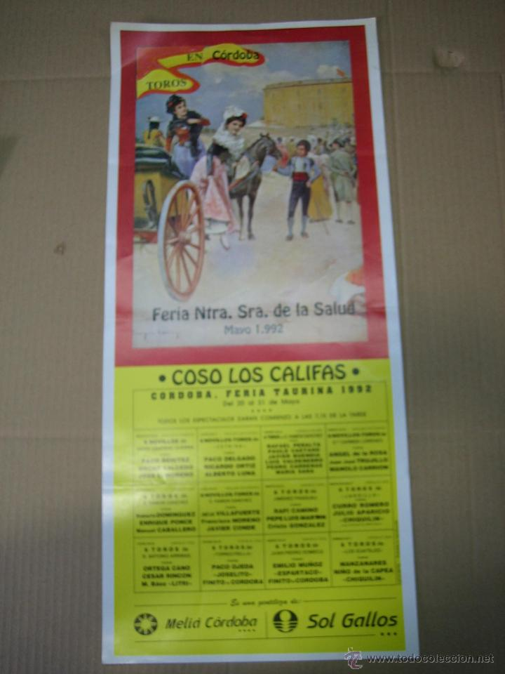 CARTEL PLAZA DE TOROS DE CORDOBA 1992. MEDIDAS 22,50X51 CM (Coleccionismo - Carteles Gran Formato - Carteles Ferias, Fiestas y Festejos)