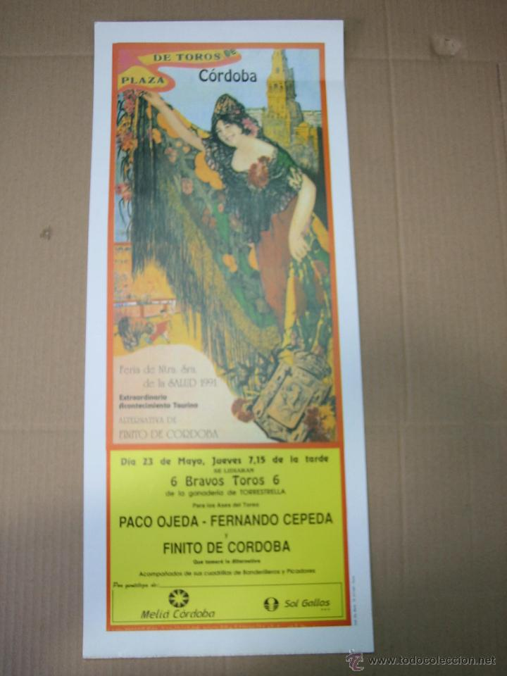 CARTEL PLAZA DE TOROS DE CORDOBA 1991.MEDIDAS 20XX49 CM (Coleccionismo - Carteles Gran Formato - Carteles Ferias, Fiestas y Festejos)