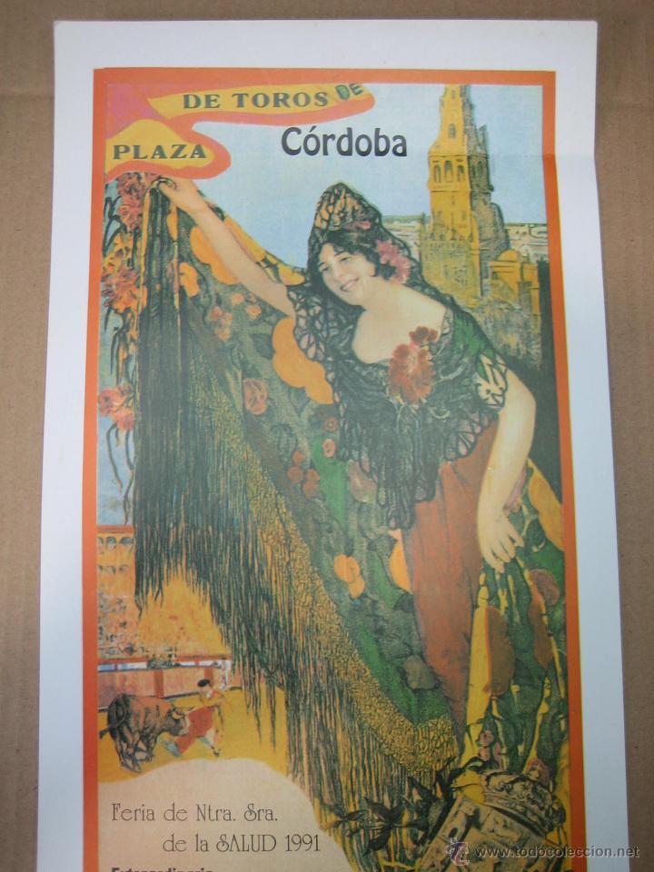 Carteles Feria: Cartel plaza de toros de Cordoba 1991.Medidas 20XX49 cm - Foto 2 - 49258437
