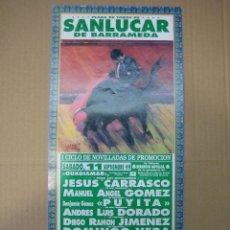 Carteles Feria: CARTEL PLAZA DE TOROS DE SANLUCAR 1989. MEDIDAS 15X30 CM. Lote 49258471