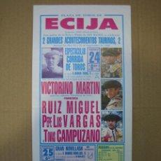 Carteles Feria: CARTEL PLAZA DE TOROS DE ECIJA 1988. MEDIDAS14X28,5 CM. Lote 49258514