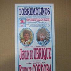 Carteles Feria: CARTEL PLAZA DE TOROS DE TORREMOLINOS 1989. MEDIDAS 14X31 CM. Lote 49258579