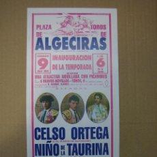 Carteles Feria: CARTEL PLAZA DE TOROS DE ALGECIRAS . Lote 49258594