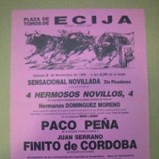 Carteles Feria: CARTEL PLAZA DE TOROS DE ECIJA. Lote 49258643