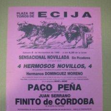 Carteles Feria: CARTEL DE MANO PLAZA DE TOROS DE ECIJA. Lote 49258654