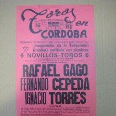 Carteles Feria: CARTEL PLAZA DE TOROS DE CORDOBA. Lote 49258670