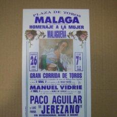 Carteles Feria: CARTEL PLAZA DE TOROS DE MÁLAGA. Lote 49258687