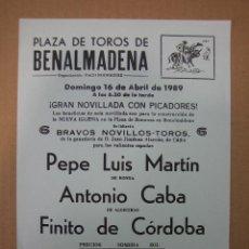 Carteles Feria: CARTEL PLAZA DE TOROS DE BENALMÁDENA. Lote 49258689