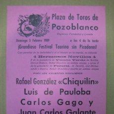 Carteles Feria - Cartel plaza de toros de Pozoblanco - 49258695