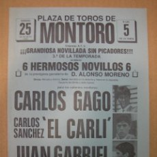 Carteles Feria: CARTEL PLAZA DE TOROS DE MONTORO. Lote 49258698