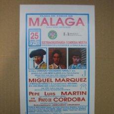 Carteles Feria: CARTEL PLAZA DE TOROS DE MÁLAGA. Lote 49258942