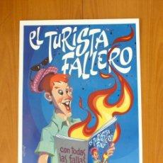 Carteles Feria: EL TURISTA FALLERO - CON TODAS LAS FALLAS DE VALENCIA 1992 - PÓSTER TAMAÑO 45X64. Lote 49305622
