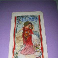 Carteles Feria: ANTIGUO E IRREPETIBLE LIBRO PROGRAMA DE *GRANDES FIESTAS EN MÁLAGA* DE 1908 ORIGINAL. Lote 49592225