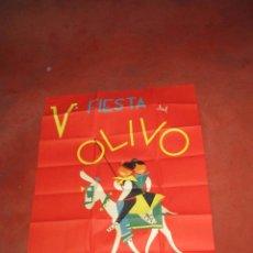 Carteles Feria: ANTIGUO CARTEL V FIESTA DEL OLIVO EN MORA - (TOLEDO) DEL AÑO 1961. Lote 49695482