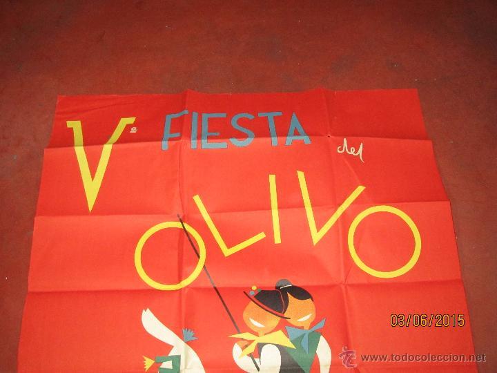 Carteles Feria: Antiguo Cartel V Fiesta del Olivo en MORA - (Toledo) del Año 1961 - Foto 2 - 49695482