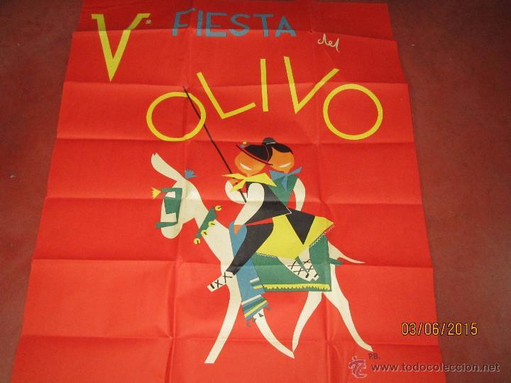 Carteles Feria: Antiguo Cartel V Fiesta del Olivo en MORA - (Toledo) del Año 1961 - Foto 4 - 49695482