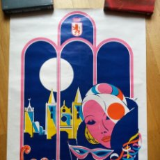 Carteles Feria: CARTEL CARNAVALES DE LEON 1985 DE 70 X 58 CMS. Lote 49710104