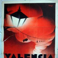 Carteles Feria: CARTEL FERIAS Y FIESTAS, FALLAS DE VALENCIA 1932, RAGA , ART DECO , ORIGINAL. Lote 49733696
