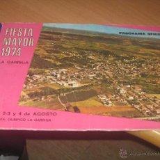 Carteles Feria: PROGRAMA FIESTA MAYOR 1974 LA GARRIGA. Lote 49762997