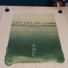 Cartazes Feira: CARTEL XXIV FIRA DEL LLIBRE D'OCASIÓ ANTIC I MODERN – BARCELONA 1975 – HERNÁNDEZ PIJUAN. Lote 49896233