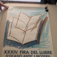 Cartazes Feira: CARTEL XXXIV FIRA DEL LLIBRE D'OCASIÓ ANTIC I MODERN – BARCELONA 1985 – RAFOLS CASAMADA. Lote 49921422