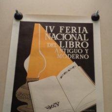 Cartazes Feira: CARTEL IV FERIA NACIONAL DEL LIBRO ANTIGUO Y MODERNO – VALENCIA 1981 – CARMEN LLORET. Lote 49921628