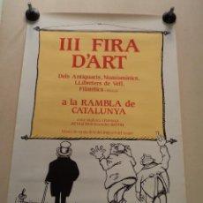 Carteles Feria: CARTEL III FIRA D'ART – BARCELONA 1984 – GAIETÀ CORNET. Lote 49925156