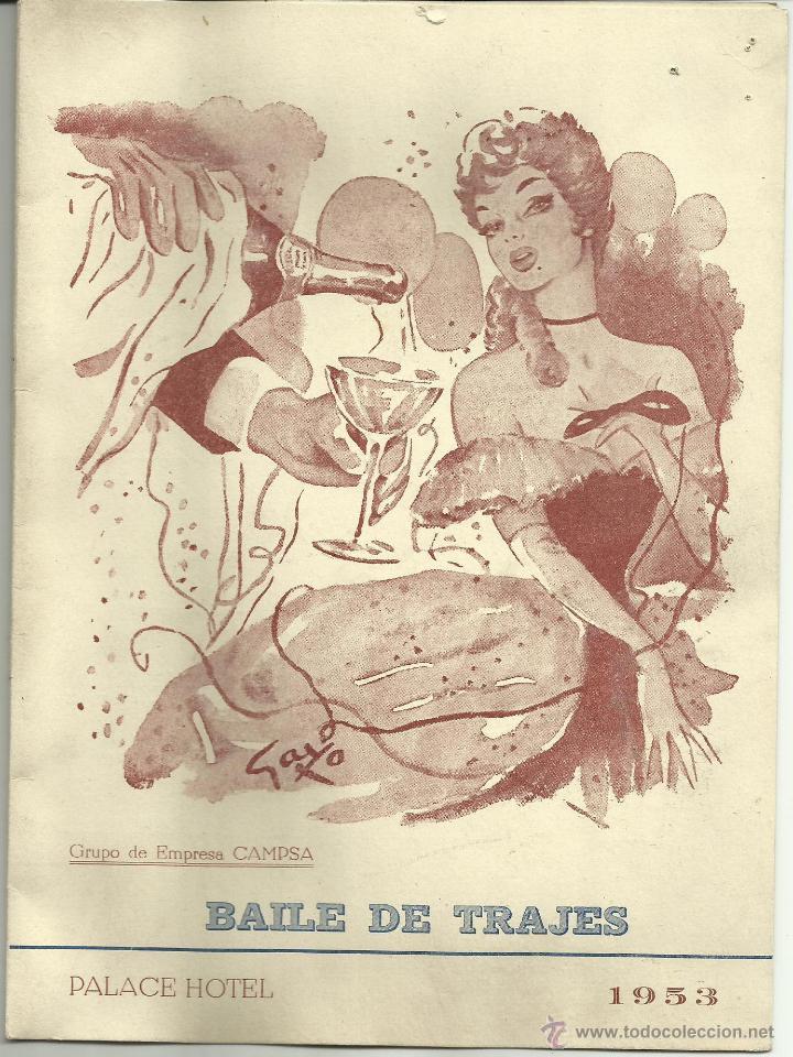 CARTEL BAILE DE TRAJES 1953 (Coleccionismo - Carteles Gran Formato - Carteles Ferias, Fiestas y Festejos)