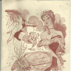 Carteles Feria: CARTEL BAILE DE TRAJES 1953. Lote 50156693
