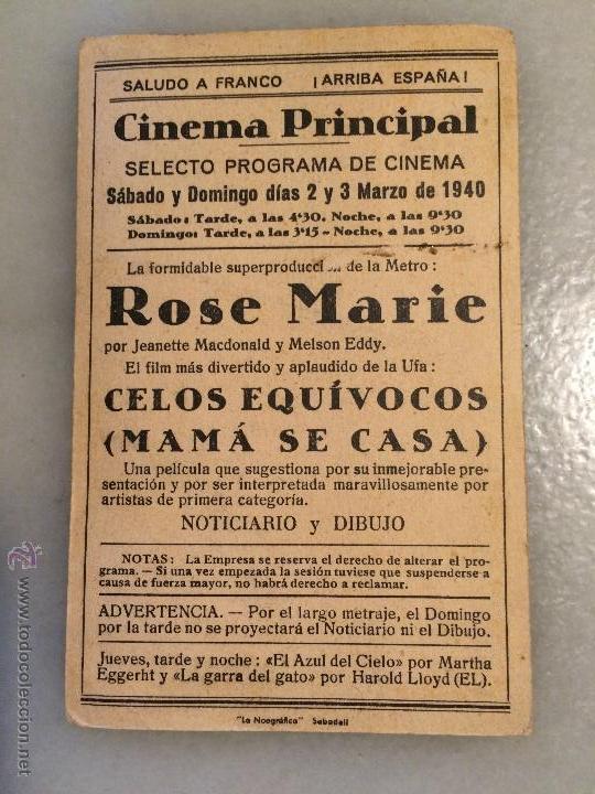 Carteles Feria: Antiguos 3 carteles de bolsillo de peliculas de cine la actriz Jeanette Macdolald de los años 40-50 - Foto 2 - 50362706