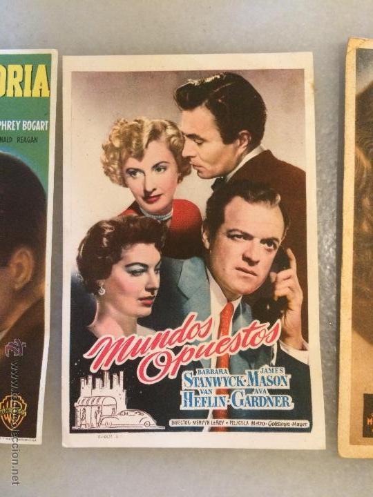 Carteles Feria: Antiguos 3 carteles de bolsillo de peliculas de cine la actriz Jeanette Macdolald de los años 40-50 - Foto 3 - 50362706