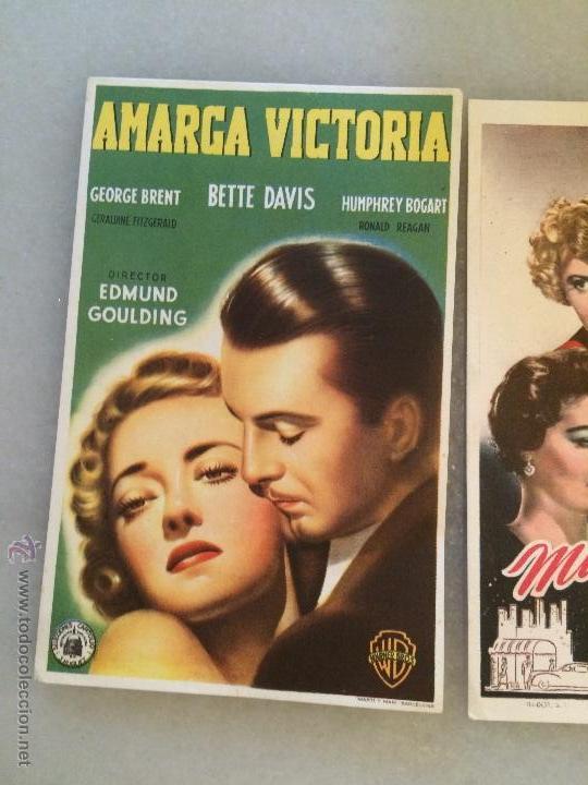 Carteles Feria: Antiguos 3 carteles de bolsillo de peliculas de cine la actriz Jeanette Macdolald de los años 40-50 - Foto 5 - 50362706